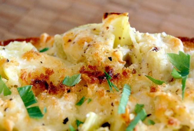 cheesy artichoke bread | wee eats