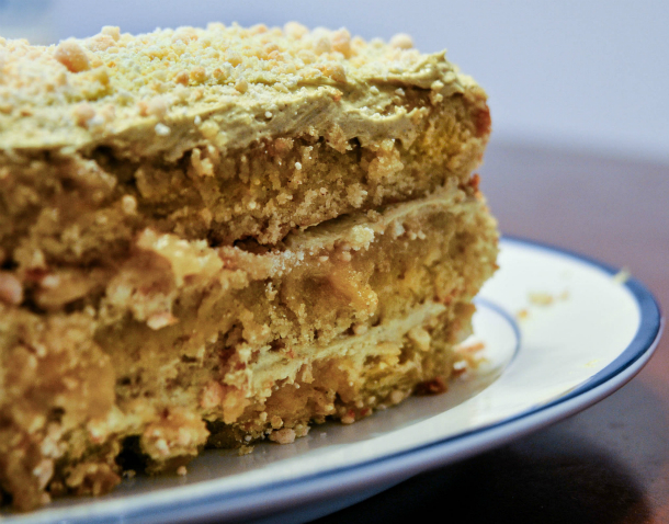 Pistachio cake, adapted from Momofuku Milk Bar , by Christine Tosi ...